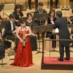 シエナ・ウインド・オーケストラ(アルト・サクソフォーン独奏:中島 麻美さん)